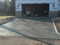 Unfinished driveway